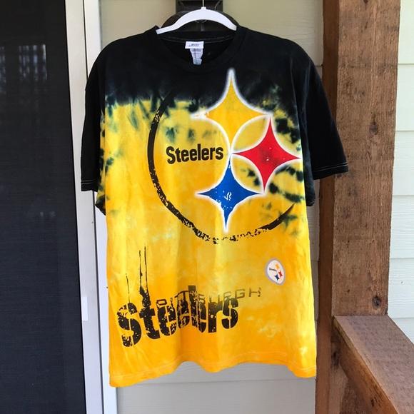 9527151e NFL Shirts | Team Apparel Steelers Tie Dye Shirt Official | Poshmark